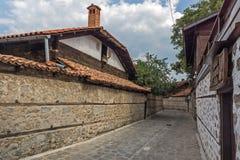 Casas do século XIX autênticas na cidade de Bansko, região de Blagoevgrad, Bulgária Imagem de Stock Royalty Free