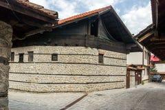 Casas do século XIX autênticas na cidade de Bansko, região de Blagoevgrad, Bulgária Foto de Stock Royalty Free