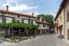 Casas do século XIX autênticas na cidade de Bansko, região de Blagoevgrad, Bulgária Fotografia de Stock Royalty Free