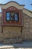 Casas do século XIX na cidade velha da cidade de Plovdiv, Bulgária fotos de stock royalty free