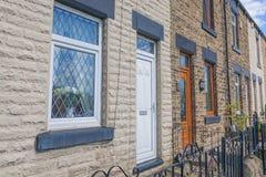 Casas do tijolo Arquitetura inglesa típica Imagens de Stock