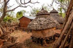 Casas do tribo Konso fotos de stock royalty free