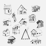 Casas do vetor ajustadas Fotografia de Stock Royalty Free
