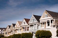 Casas do Victorian Imagem de Stock Royalty Free