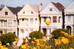 Casas do Victorian Foto de Stock