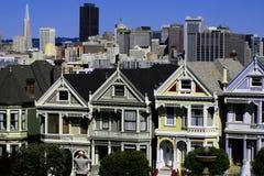 Casas do Victorian Imagem de Stock