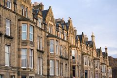 Casas do Victorian Imagens de Stock