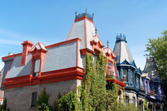 Casas do Victorian em Montreal Foto de Stock