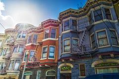 Casas do Victorian em San Francisco Fotografia de Stock