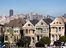 Casas do Victorian em San Francisco fotos de stock royalty free