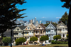 Casas do Victorian em San Francisco Foto de Stock Royalty Free