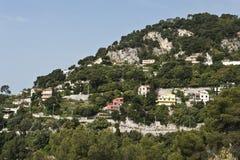 Casas do Villefranche-sur-Mer fotografia de stock