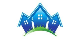 Casas dos bens imobiliários Fotografia de Stock Royalty Free