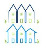 Os bens imobiliários abrigam logotipos Foto de Stock