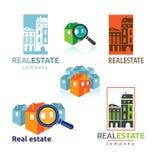 Casas dos bens imobiliários?, planos para a venda ou para o aluguel ilustração stock