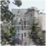 Casas dos bens imobiliários?, planos para a venda ou para o aluguel Foto de Stock