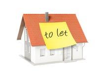 Casas dos bens imobiliários?, planos para a venda ou para o aluguel Imagem de Stock
