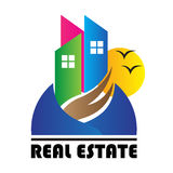 Casas dos bens imobiliários?, planos para a venda ou para o aluguel imagens de stock