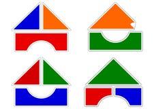 Casas dos blocos coloridos Fotos de Stock