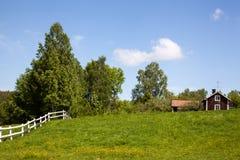 Casas e ambiente na Suécia. Imagem de Stock
