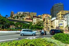 Casas e apartamentos luxuosos em Monte - Carlo, Mônaco, Europa Foto de Stock Royalty Free