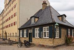 Casas e bicicletas. Foto de Stock