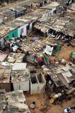 Casas e comunidade da pesca da costa do cabo Fotografia de Stock