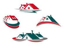 Casas e HOME ilustração stock