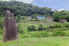 Casas e Marco históricos Caminhos de Pedra Brasil Imagem de Stock