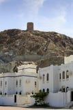 Casas e torre de vigia Imagens de Stock Royalty Free