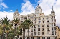 Casas Edificio Carbonell, Alicante, España Fotos de archivo libres de regalías