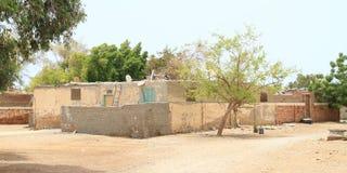 Casas egípcias tradicionais em Marsa Alam imagens de stock royalty free