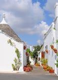 Casas em Alberobello, Italy de Trulli Foto de Stock