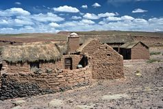 Casas em Altiplano em Bolívia, Bolívia fotografia de stock royalty free