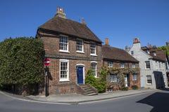 Casas em Arundel, Sussex ocidental foto de stock