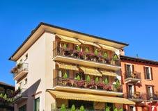 Casas em Ascona em Ticino em Suíça Fotografia de Stock Royalty Free