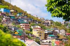 Casas em Baguio fotografia de stock royalty free