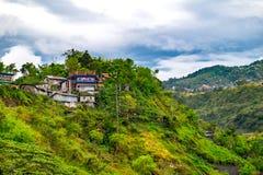 Casas em Baguio imagens de stock