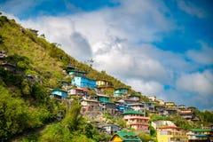 Casas em Baguio foto de stock royalty free