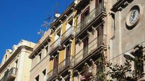 Casas em Barcelona Fotografia de Stock