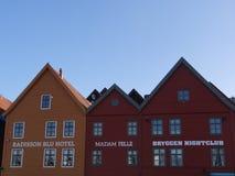 Casas em Bergen fotografia de stock