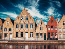Casas em Bruges Bruges, Bélgica imagens de stock royalty free