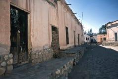 Casas em Cachi, Salta, Argentina foto de stock