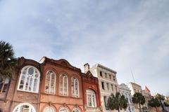 Casas em Charleston histórico, South Carolina fotografia de stock