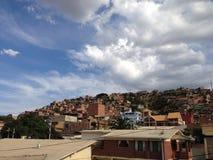 Casas em Cochabamba imagens de stock