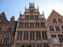 Casas em Graslei (Ghent, Bélgica) Fotos de Stock Royalty Free