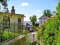 Casas em Hamburgo Blankenese Imagem de Stock Royalty Free