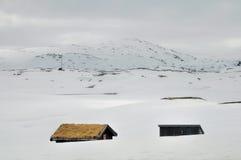 Casas em Haukeli Imagens de Stock
