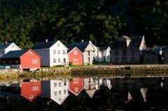 Casas em Laerdal Foto de Stock