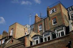 Casas em Londres, Inglaterra Imagens de Stock Royalty Free